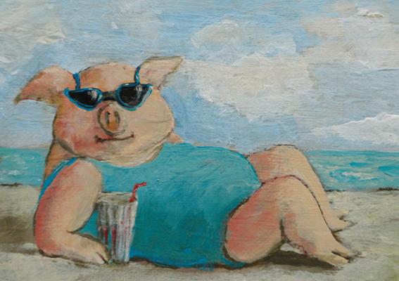 Meerschwein (Postkarte)